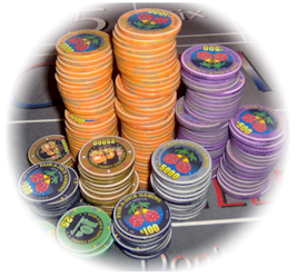 Our Chips / Cheques / Poker Chips are the very best in the industry and by far the highest quality available in Wichita, Kansas, the Midwest or the Nation.