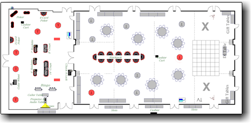 Casino floor plan design